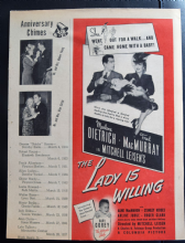 The Lady is Willing (1942) - Marlene Dietrich | Vintage Trade Ad